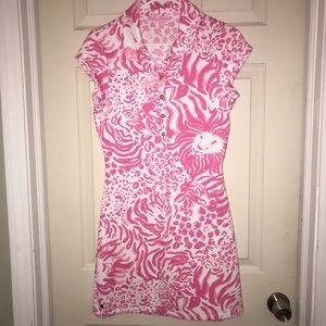 Lilly Pulitzer Rayna Printed Polo Dress Sz M